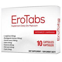 EroTabs Tabletki na erekcję potencję wzwód 10 kapsułek